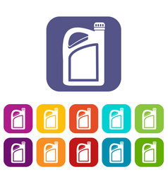 Jerrycan icons set vector