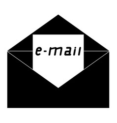 Letter black and white icon vector