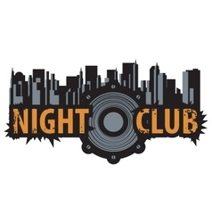 Logo for a night club vector