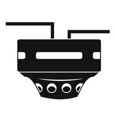 Monitor socket icon simple style vector