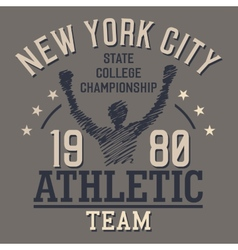 New York Athletic Team vector image