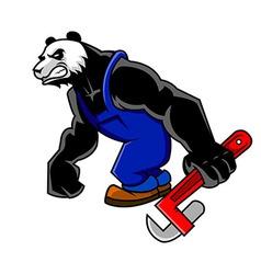 Panda Mechanic vector image vector image