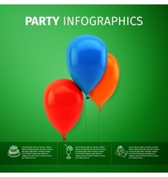 party infographics vector image vector image