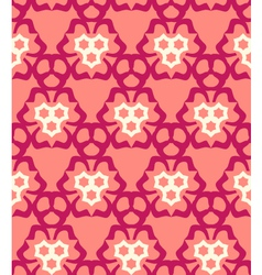 psychedelic abstract colorful red cream pink vector image