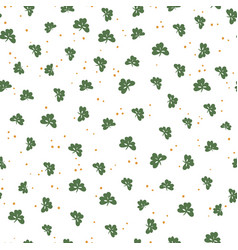Saint patricks day seamless pattern clover leaf vector