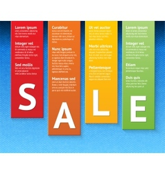 Sale paper cut template vector