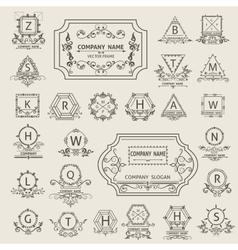 Set arabesque logos emblem ornamental vector image vector image