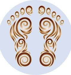 Track feet ornament vector
