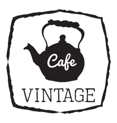 VINTAGE CAFE vector image vector image