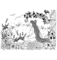 Zen Tangle a pregnant woman vector image