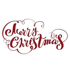 Merry christmas lettering text for greeting card vector