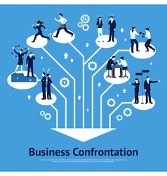 Business confrontation flat graphic design vector