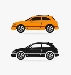 hatchback car symbol vector image