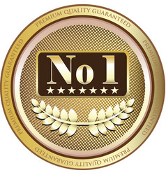 Number one gold label vector