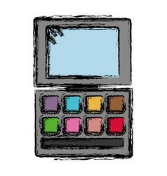 Eye shadows palette icon vector