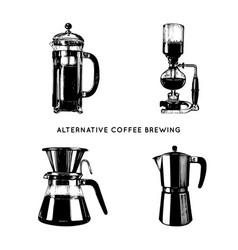 alternative coffee brewing vector image