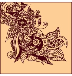 Tattoo henna vector