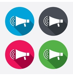 Megaphone sign icon Loudspeaker strike symbol vector image