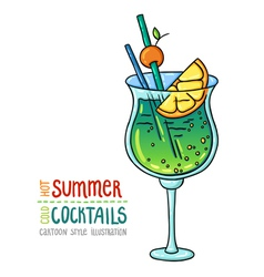Cocktails one cartoon 7 vector