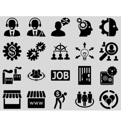 Business service management icons vector