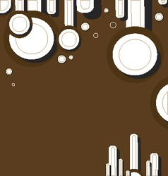 Brown background with rounds vector