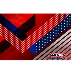 American flag geometric background vector