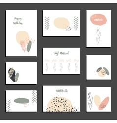 Set of universal card templates modern design vector