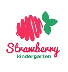 Logo for kindergarten and family day care vector