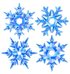 Origami snowflakes vector