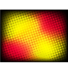 abstract red-yellow halftone background vector image