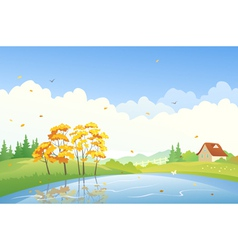 Autumn day scene vector image