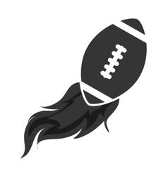ball football american isolated vector image