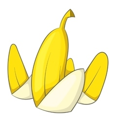 Banana peel icon cartoon style vector