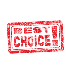 best choice grungy and scratched red stamp vector image
