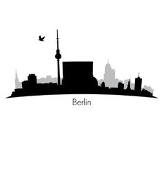 Black berlin silhouette skyline vector