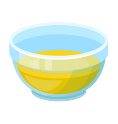 bowl of oilolives single icon in cartoon style vector image