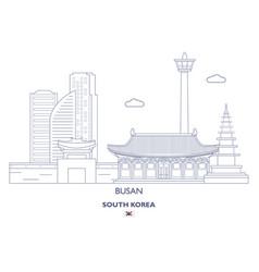 Busan linear city skyline vector