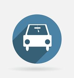 car symbol Circle blue icon with shadow vector image