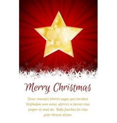 Christmas star card with place for text vector image