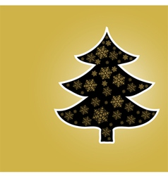 Christmas Tree From Star Light vector image