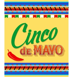 Cinco de mayo hand drawn lettering design vector