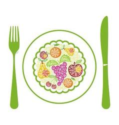 Fruits menu vector image vector image