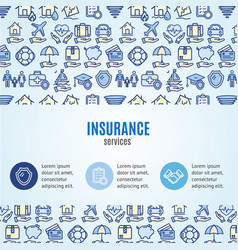 insurance concept infographics banner vector image vector image