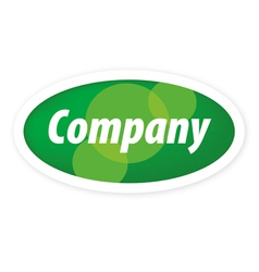 Logo eco company vector