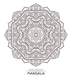 mandala for coloring with decorative element vector image