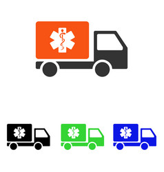 medical shipment flat icon vector image vector image