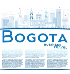 Outline Bogota Skyline with Blue Buildings vector image