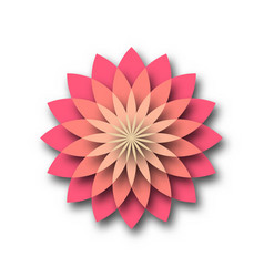 pink lotus - symbol of yoga wellness beauty and vector image vector image
