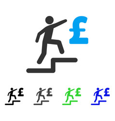 Pound business steps flat icon vector