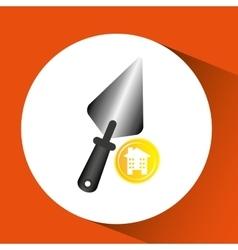 remodel construction building spatula icon vector image vector image